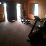 "The ""exercise room"" nothing works but the tv which has more channels than you do in your room!"