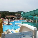  The slides and pool