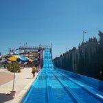 big slides in water park