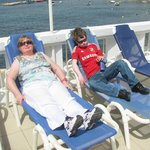  The sun loungers