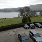 View from the room - over car park to Ullswater