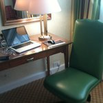 A good chair and work area in the room