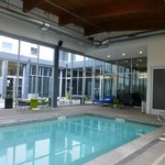 The pool room has got cool architecture.  Indoor is great for Portland!