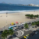 View of Copacabana beach from the room.