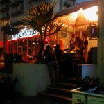  Across the street from in Bar Gitano Restaurant with live music.