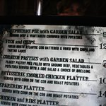  The Three Broomsticks menu