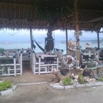  Beach side eating area