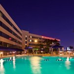 Crowne Plaza Miami Airport Hotel Outdoor Swimming Pool at Night