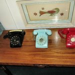 Vintage telephones in our room