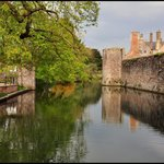 Moat at Bishops Palace, Wells