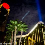 Strange night sky at Mandalay Bay