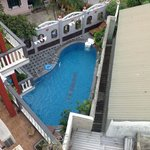  Pool seen from balcony, room 404