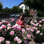  My Beautiful wife - pretty in pink.  Flowers were everywhere