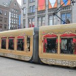 Even some trams were decorated for Queens Day
