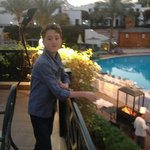  Michael enjoying the view of the pools
