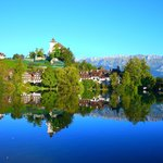  Schloss Werdenberg mit Stdtchen und See