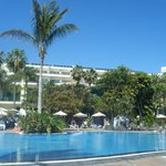  view of hotel form pool