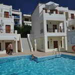 Kostis villas Pool/Beach area