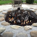  The gas fire pit (no roasting marshmallows though)