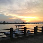 Sunset in Wilmington's riverfront at the Hilton Riverside