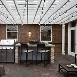 Outdoor Kitchen w/ 2 Stainless Steel Grills