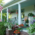 The front porch in summer.