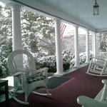 Front porch in winter.