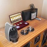 Nespresso machine in our room!
