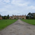  Looking down the drive to Kentwell Hall