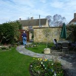  The lovely walled garden leading to the parking area.