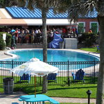  Taken from the side balcony overlooking the pool and the Lemon Bar