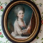  Portrait of a young women, 18th century pastel in the lobby