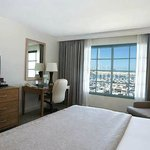  DoubleTree San Pedro hotel one king guest room with Marina view