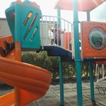 There is a small kiddies park,ideal for the kids,in between swims and meals etc