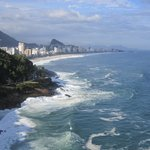 Stunning view back towards Leblon and Ipanema beaches!!