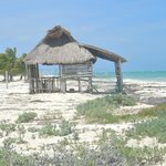 Deserted beach shack at Isla Blanca Cancun