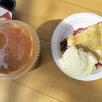  Apple juice slushie and crate berry pie: highly recommended!
