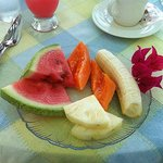 Fresh fruit course with breakfast