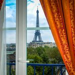View of Eiffel Tower from Room