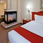 Suite features One King Bed with Jacuzzi & Fireplace
