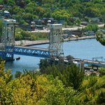  Portage Lift Bridge connecting Houghton and Hancock