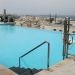 The rooftop pool