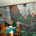 Mural in restaurant of Hotel