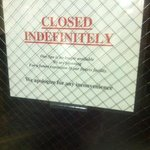 hot tub closed indefinitely. but other signs pointing to it all over hotel.