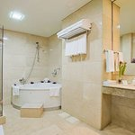  The spacious bathroom in our suites is like having your own Spa.