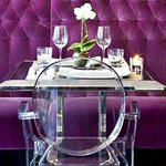  Dining feature Louis Ghost Chairs by Philippe Starck