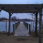  Arbor and dock on the Back Creek