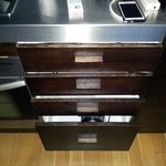 Apartment 311 Worn and aged kitchen drawers