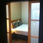  The second bedroom, closed off by sliding doors.