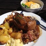 Amazing Sunday Roast. Delicious Lamb, amazing stuffing and a lovely Yorkshire pud